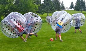 Partie de soccer bubble